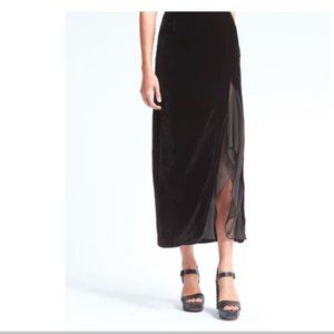 Olivia Palermo x Banana Republic Velvet Skirt